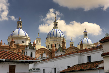 the Domes of the New Cathedral of Cuenca, Ecuador