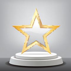 white star gray room podium