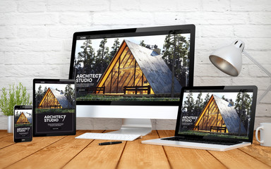 architect website responsive design screen multidevices