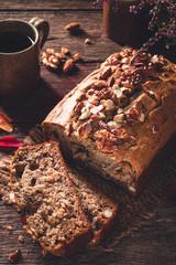 Banana Bread ou Cake à la Banane et aux Noix pour le Goûter des Enfants après l' Ecole