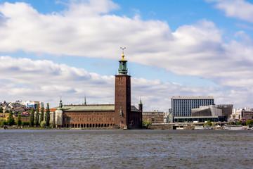 Wall Mural - City Hall, famous landmark of Stockholm City, Sweden.
