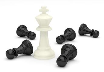échecs jeu roi pions union