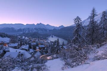 Winter landscape, Graubunden, Engadin, Switzerland