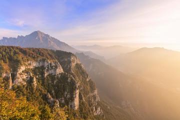 Sunrise on Grigna meridionale seen from Monte Coltignone, Lecco, Lombardy, Italian Alps, Italy, Europe