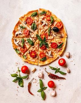 Fresh homemade pizza