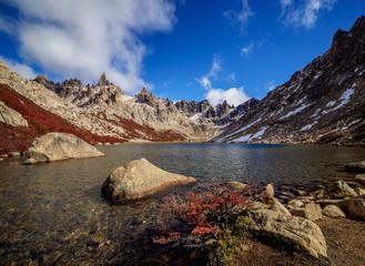 Toncek Lagoon and Cerro Catedral, Nahuel Huapi National Park, Rio Negro Province, Argentina, South America