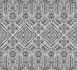 Photo sur Aluminium Style Boho Simmetric seamless pattern in ethnic style. Tribal geometric ornament, perfect for textile design, site background, wrapping paper and other endless fill. Trendy boho tile.