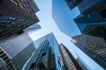 Hochhäuser und Büros in New York City, USA
