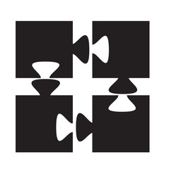 isolated, silhouette puzzles