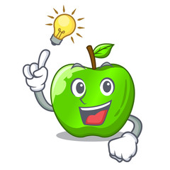 Have an idea green smith apple isolated on cartoon
