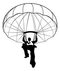 Parachute Businessman Silhouette