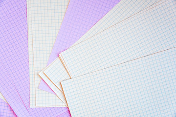 Clean pages in a cage, laid out on a table