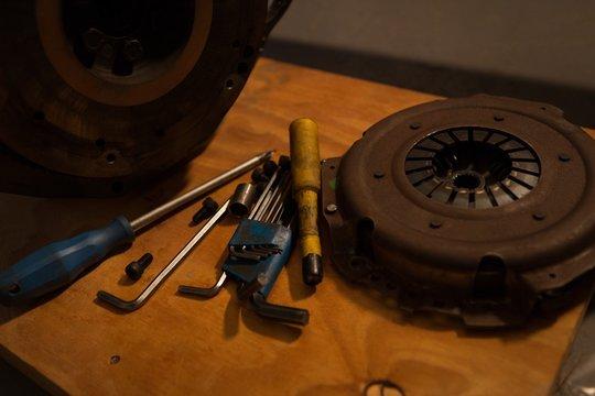 Various tools with mac wheel