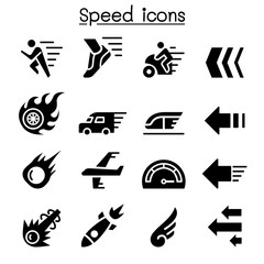 Speed icon set
