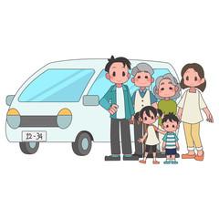 家族 3世帯 自家用車