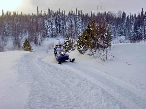 snowmobile in siberia