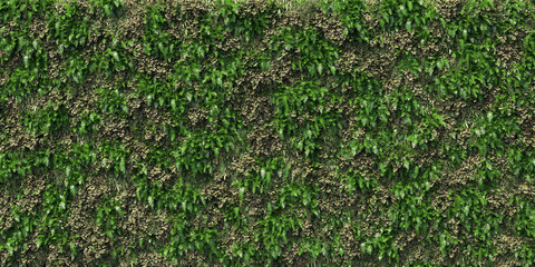 Wall Mural - big giant plant wall vertical garden seamless