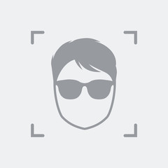Men face avatar icon