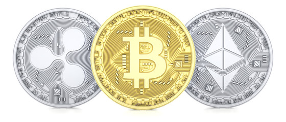 Bitcoin, Ethereum and Ripple