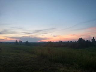 Papiers peints Campagne Sunset in the field in Ukraine.lviv.