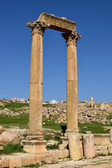 Roman Ruins of Jerash , Ancient Roman city of Gerasa of Antiquity , modern Jerash, Jordan