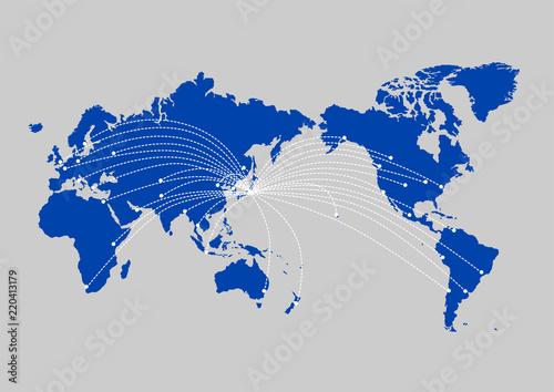 世界地図 グローバリゼーション ...
