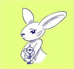 konijn met pistool