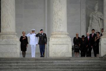 Casket of U.S. Senator John McCain arrives at the Capitol