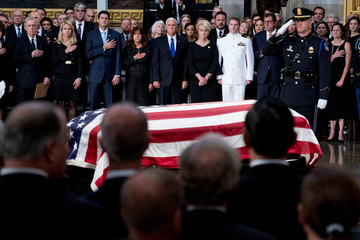 The casket of Sen. John McCain, R-Ariz., is laid in state in the Rotunda of the U.S. Capitol