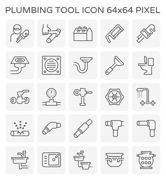 plumber plumbing icon