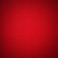 Red fabric background.