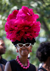 Lana Turner, a member of the public, waits in line to see if she can get inside during the funeral service for Aretha Franklin at the Greater Grace Temple in Detroit, Michigan