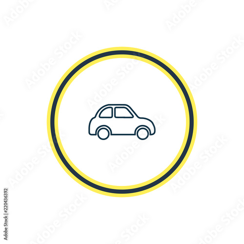 Vector Illustration Of Car Icon Line Beautiful Transport Element