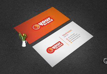 Orange and Red Business Card Layout