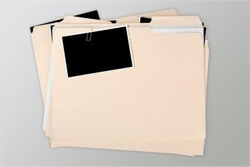Manila folder with some documents in it. on background - fototapety na wymiar