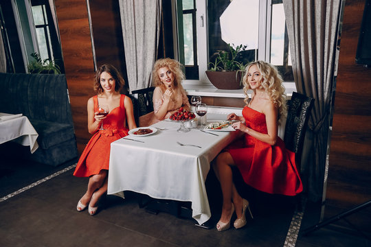 ladies with wine