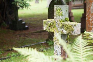 Grabstein auf Friedhof