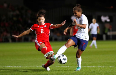 Women's World Cup Qualifier - Wales v England