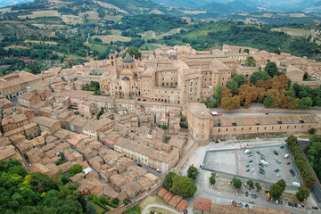 Aerial view of Urbino Italy