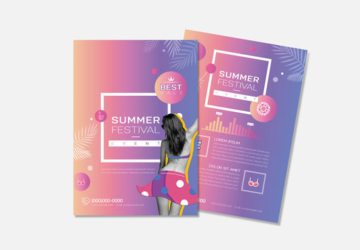Event Flyer Layout With Purple Gradient Accents