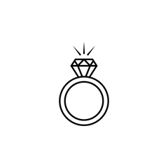 Diamond ring icon. Element of LGBT illustration. Premium quality graphic design icon. Signs and symbols collection icon for websites, web design, mobile app