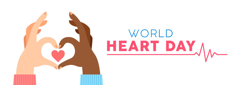 World Heart Day banner for love and health support