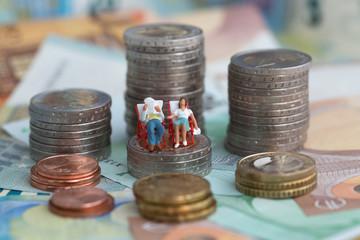 Paar auf Euromünzen