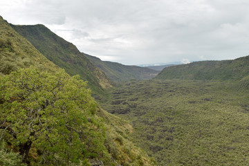 The volcanic crater on Mount Suswa, Kenya
