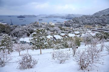Fototapeta 長崎の降雪