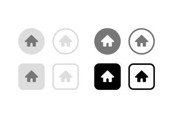 ホームボタン。グラフィック素材、デザインアイコン