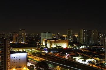 Céu Noturno do Bairro Tatuapé em São Paulo Brasil