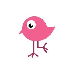 Cute bird happy logo