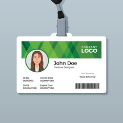 Simple Green Identity Card Template