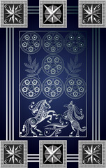 Graphical illustration of a Tarot card 8_2